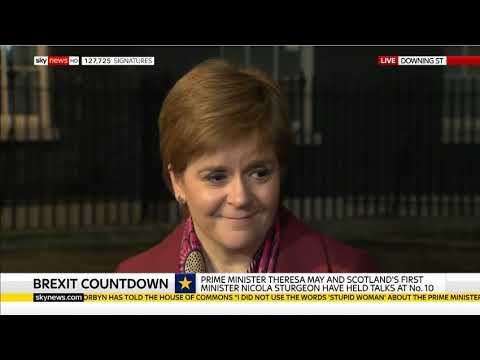 FM Nicola Sturgeon 19/12/18 - Cut short by Sky News