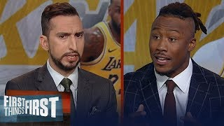 Are LeBron, Lakers the best team in NBA? Nick & Brandon Marshall discuss | NBA | FIRST THINGS FIRST