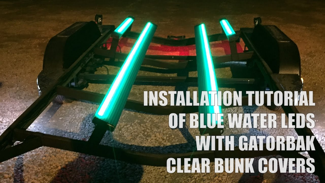 Gatorbak Clear Trailer Bunk Covers Installed With Blue
