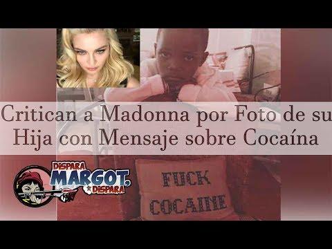 Critican a Madonna por Foto de su Hija con Mensaje sobre Cocaína