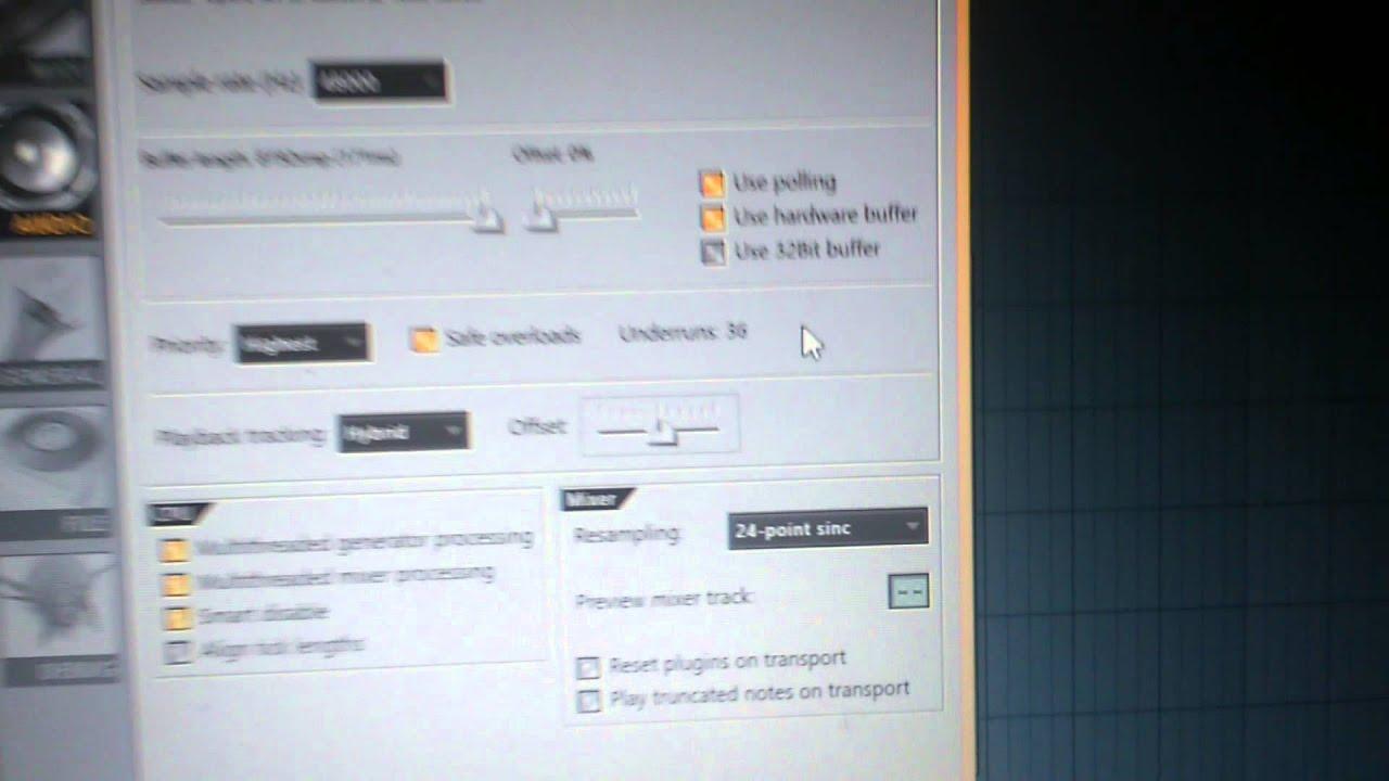 FL Studio ASIO4ALL sound issue (help)