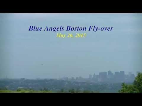 Blue Angel Boston Flyover 2015