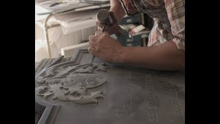 Hand Stone Carving, lettering