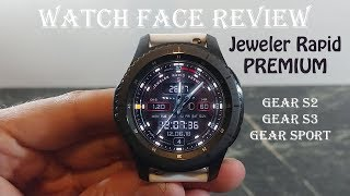 Watch Face Review : Jeweler Rapid Premium Gear S2 Gear S3 Gear Sport