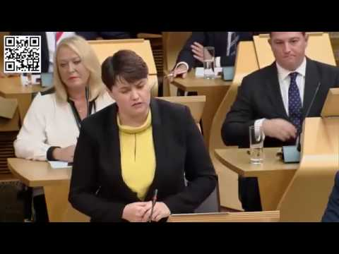 Here's Ruth Davidson caught misleading Holyrood
