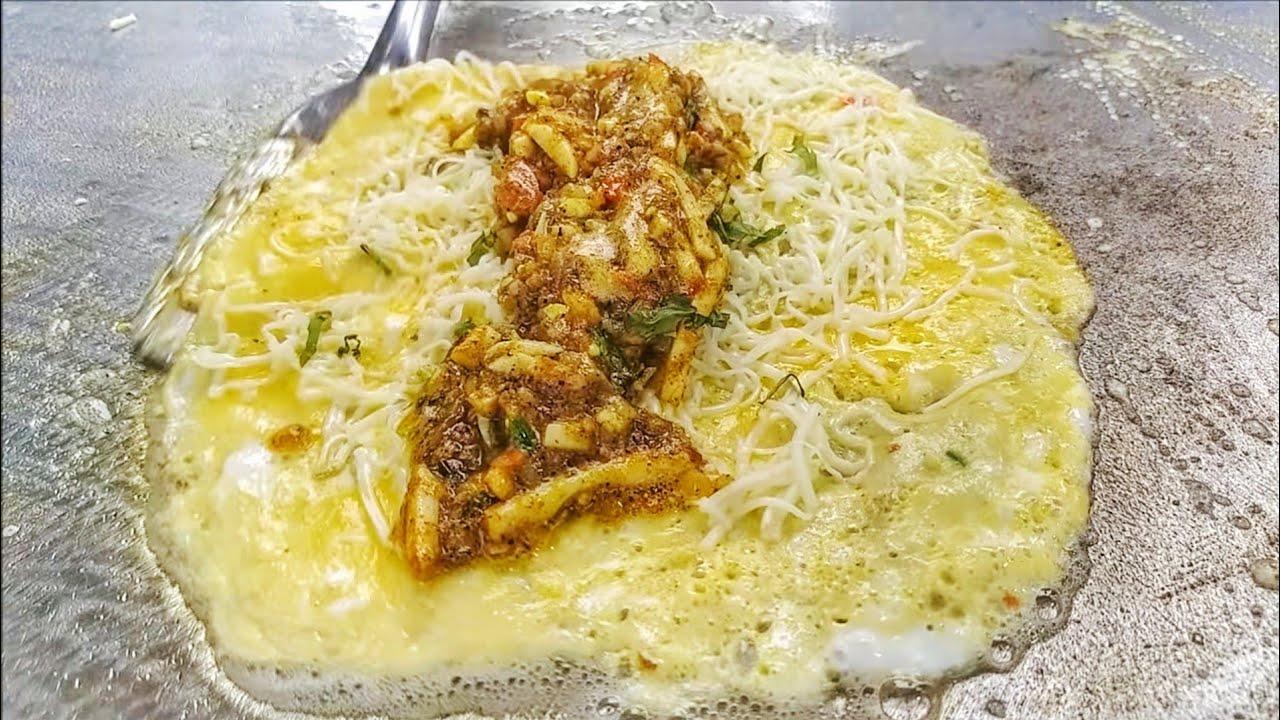 Cheese Egg Dosa With Gravy | Boil Tikka | Egg Street Food | Street Food India