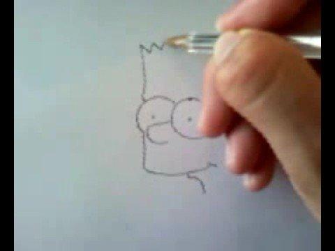 como dibujar a Bart Simpson en 30 seg  YouTube