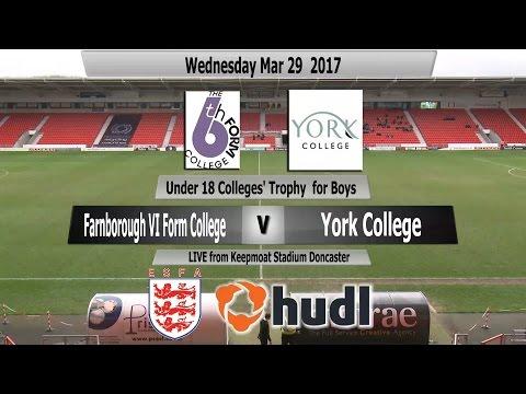 ESFA Hudl U18 Colleges' Cup for Boys - Farnborough VI Form v York College
