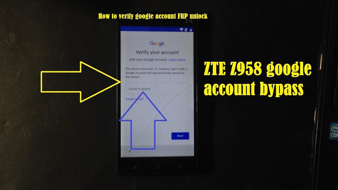 how to verify google account FRP ZTE Zmax 2 Z958