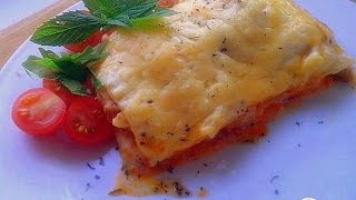 Лазанья с куриным рагу  Итальянская кухня