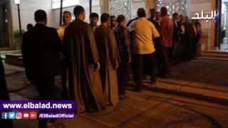 بالفيديو والصور.. هشام حنفي والعقبي في عزاء والد تامر بجاتو