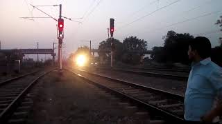 WAP P7 with Garib Rath Express and honking Dangerously..