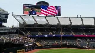 """""""THE NATIONAL ANTHEM """"A's game"""