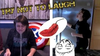 Try Not To Laugh Challenge GONE WRONG!  GHOST PEPPER HOT SAUCE CHALLENGE