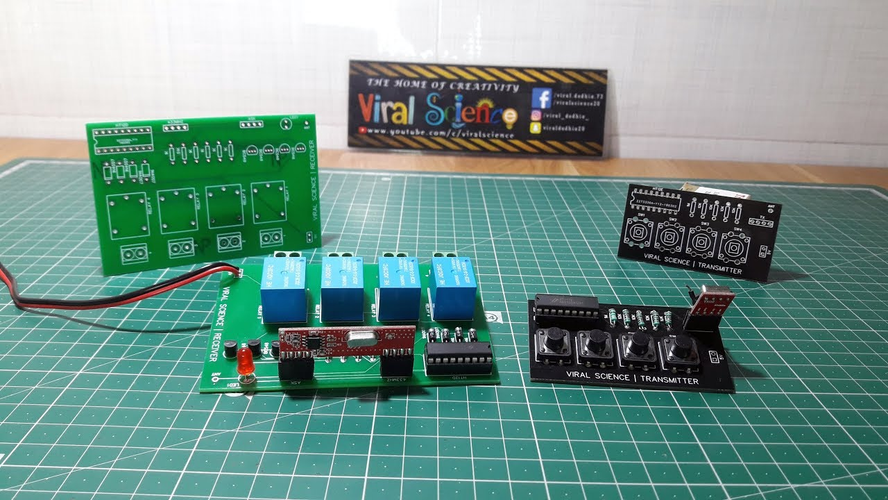 How To Make Remote Control Switch Board 433mhz Module Jlc Pcb Is Build A Simple Rc Circuit With Resistor And