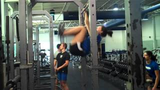 University of Memphis Pole Vaulters Gymnastics Day (Shortened)