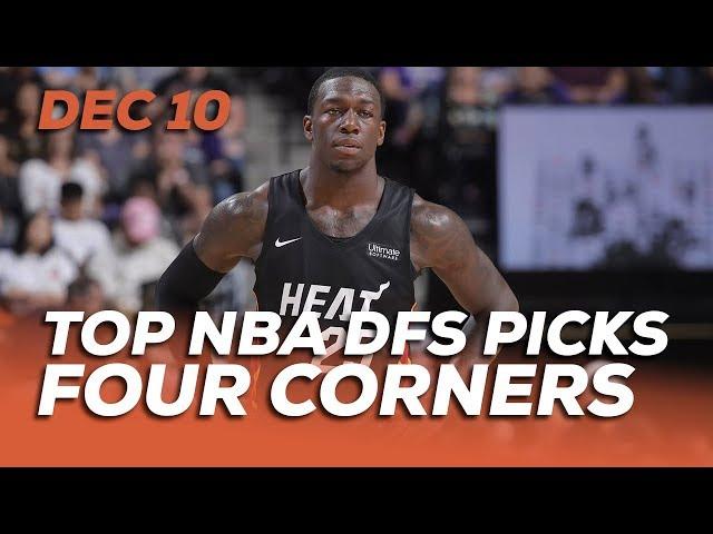 TOP NBA DFS PICKS TUES 12/10 - FOUR CORNERS - Sponsored by Superdraft - Awesemo.com
