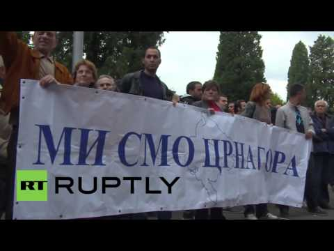Montenegro: Protesters rally against NATO SecGen's visit to Podgorica