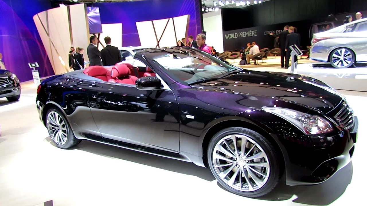 2013 infiniti g37 cabriolet exterior and interior walkaround 2012 paris auto show youtube. Black Bedroom Furniture Sets. Home Design Ideas