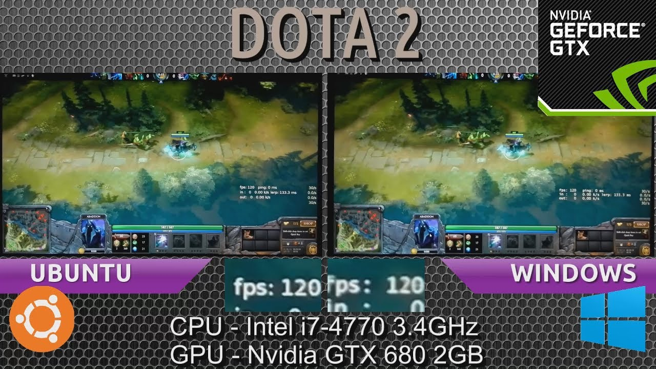Ubuntu 1304 VS Windows 8 Dota 2 Comparison With A GTX