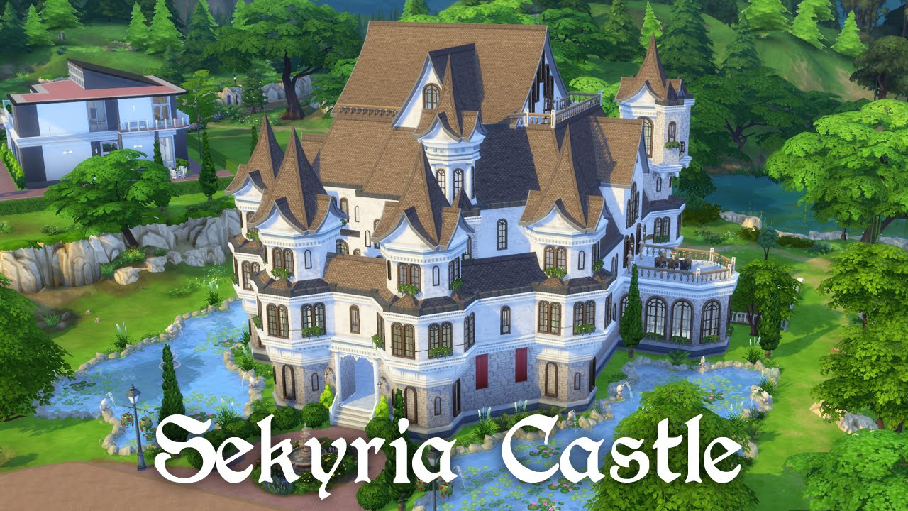 The Sims 4 Speed Building Castle Part 1 Exterior Youtube