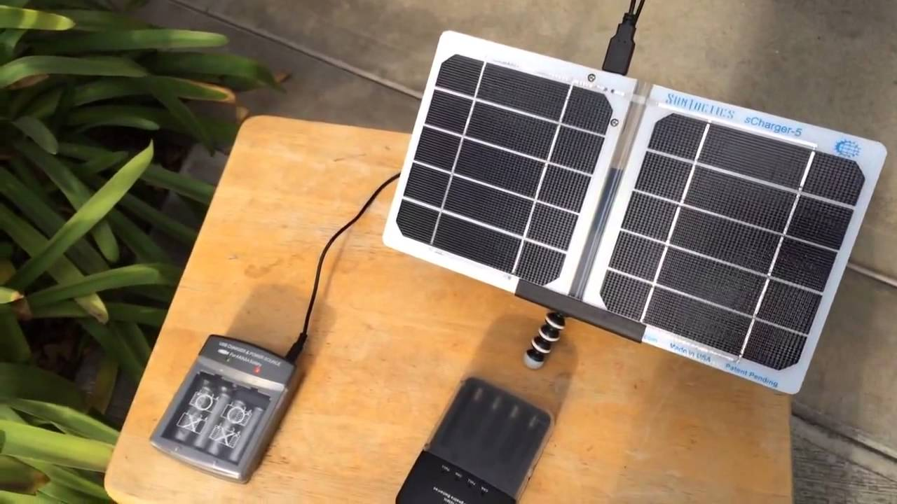 Solar Charging Rechargeable Batteries Youtube