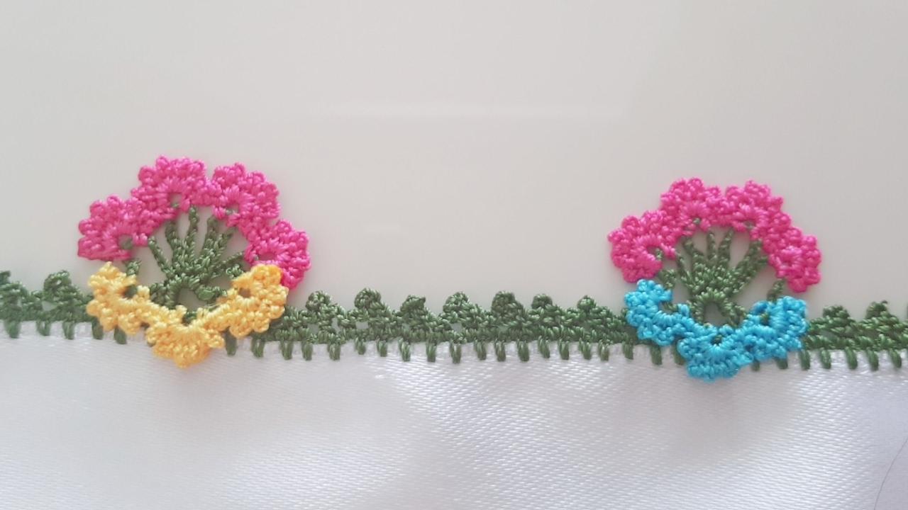 Katlı Çiçek Tığ Oyası Yapımı Videolu Anlatımlı