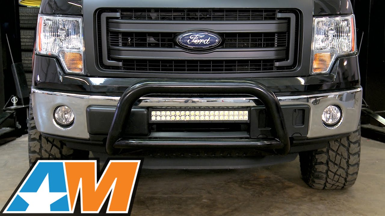 small resolution of 2009 2016 f 150 raxiom 21 5 double row led light bar flood spot combo review install youtube