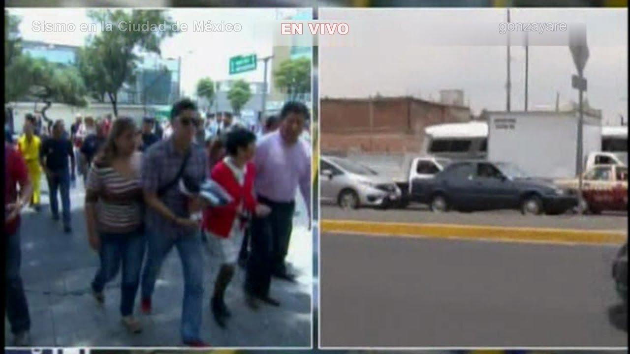 Temblor en México D.F. en vivo 5.5 Grados - YouTube