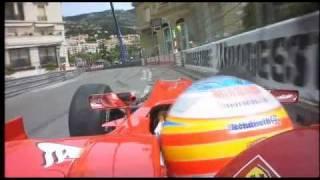 Alonso FP3 crash monaco 2010.avi