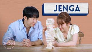 Han Ji-min and Jung Hae-in play Jenga[ENG SUB]