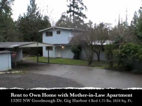 Rent To Own Gig Harbor Home With Mother In Law Apartment Youtube