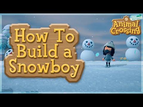 Cómo construir un muñeco de nieve perfecto en Animal Crossing New Horizons