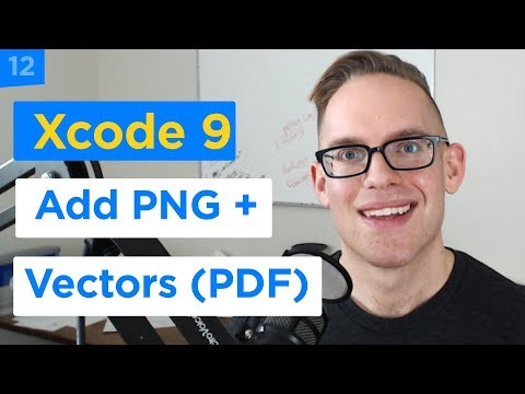 IPhone Apps 101 - How To Add Custom PNG And PDF Graphics To Your Xcode 9 Project (12/29)