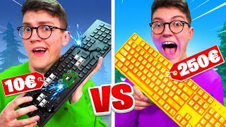 CLAVIER à 10€ VS 250€ Challenge FORTNITE Battle Royale