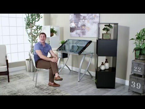 Studio Designs Futura Advanced Drafting Table With Side Shelf   Product  Review Video