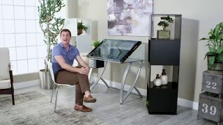 Studio Designs Futura Advanced Drafting Table with Side Shelf - Product Review Video
