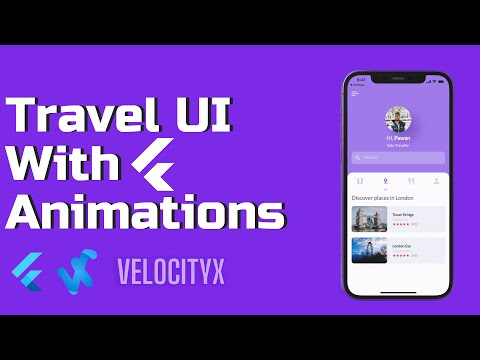 Flutter Travel UI with Animations   VelocityX Full Tutorial