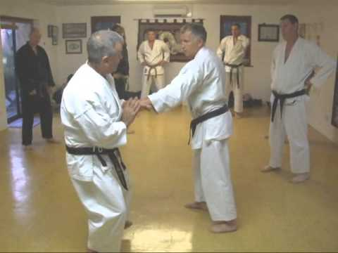 Tom Hill's Karate Dojo; Wrist grab defense with overpowering wrist lock