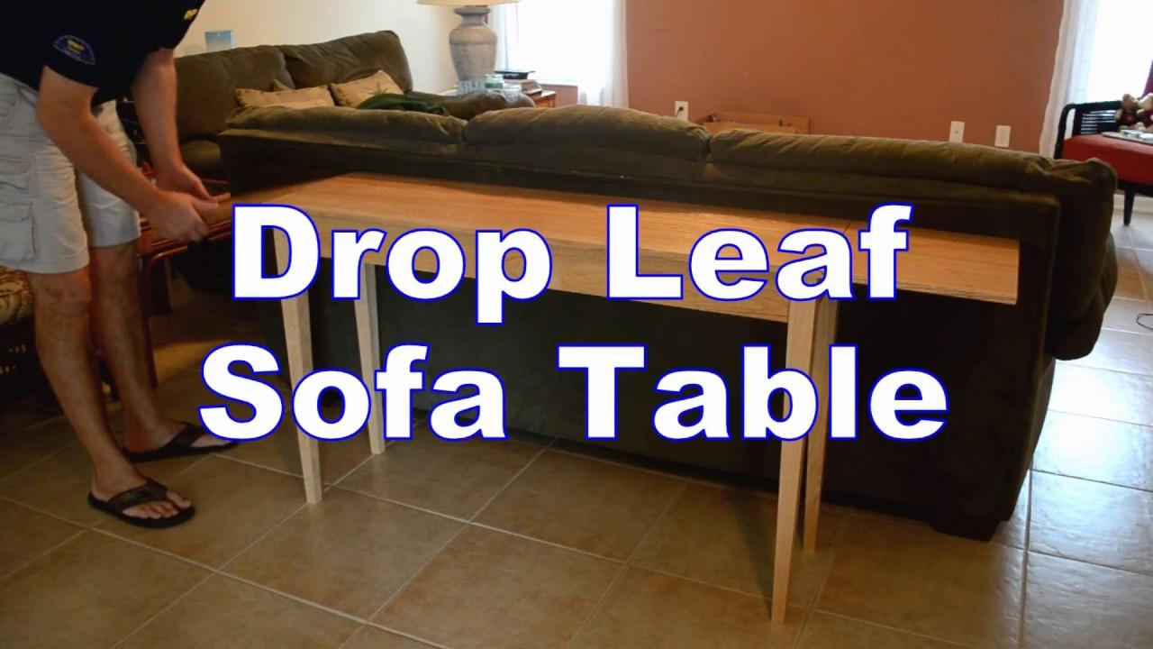 Build A Drop Leaf Sofa Table Youtube