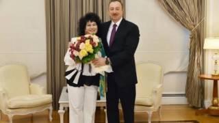 İlham Əliyev Zeynəb Xanlarovaya Heydər Əliyev ordenini təqdim edib
