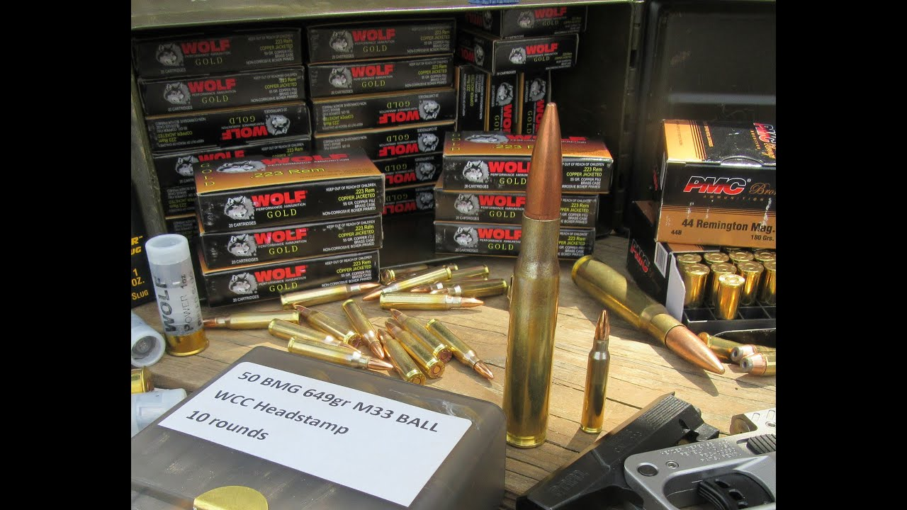 unboxing bulk ammo 1 000 rounds wolf gold 223 309 some 50bmg 12g slug 44mag [ 1280 x 720 Pixel ]