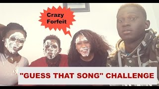 guess that song challenge  with a crazy forfeit  watch til end