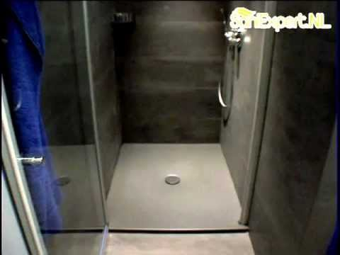 bette floor doucheplateau vlak 120x100cm 432 antracit brown youtube. Black Bedroom Furniture Sets. Home Design Ideas