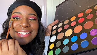 JAMES CHARLES X MORPHIE PALETTE | PINK LEMONADE CUT CREASE TUTORIAL 🍓🍋
