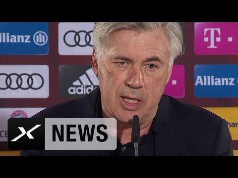 Carlo Ancelotti über Claudio Pizarro, Thomas Müller, Julian Nagelsmann | Werder Bremen - FC Bayern