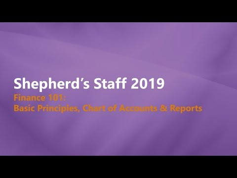 Shepherd's Staff   Finance 101  Basic Principles & Chart of Accounts