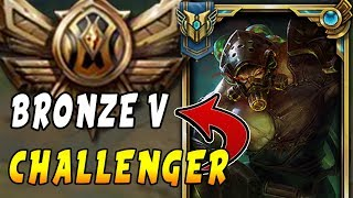 CHALLENGER Tryndamere Main Goes Into BRONZE 5! Smurfing in Bronze V - League of Legends
