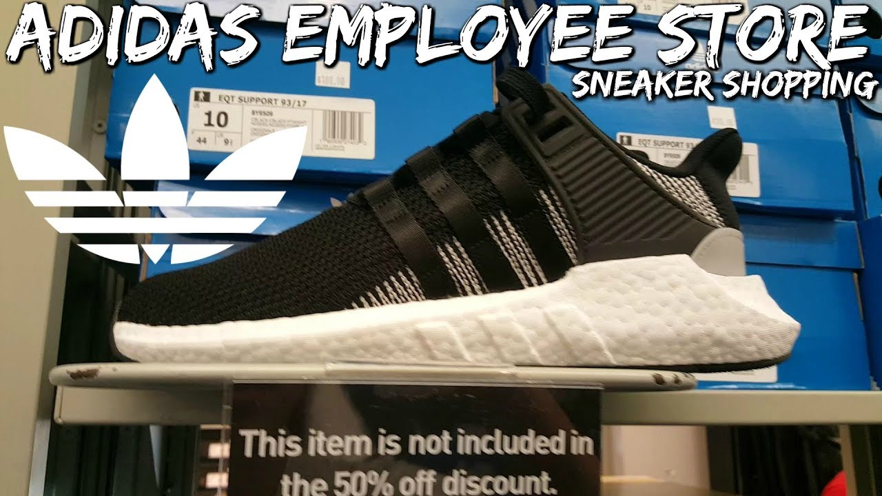 adidas 50 off employee store