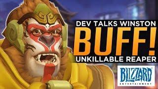Overwatch: Blizzard Talks Winston BUFF! - Unkillable Reaper